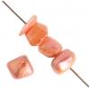 Shell Beads Dice 6mm Orange Aurora Borealis